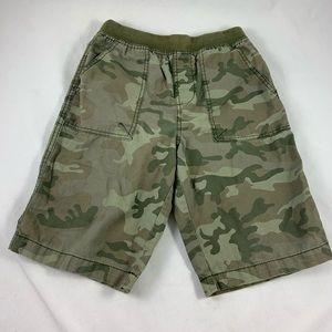 LG Kids Faded glory LG green camouflage shorts
